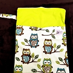 Double Pocket Medium Wetbag - green owl