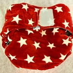 Red star waterproof nappy wrap/cover- Adult Medium